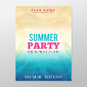 Summer tropical party poster