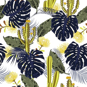 Summer tropical  pattern