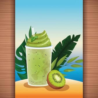 Summer tropical refreshment fruit juice