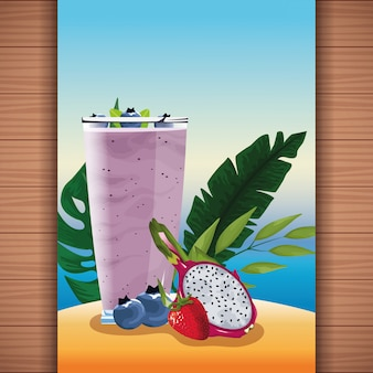여름 열대 과일 주스