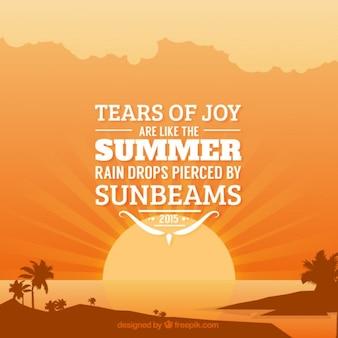 Summer typographic quote