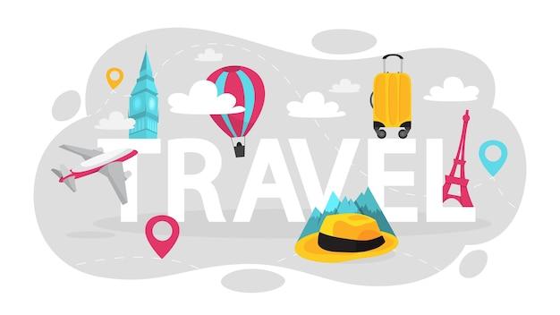 夏休み、旅行のコンセプトです。観光のアイデア