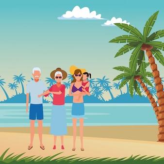 Summer vacation cartoon