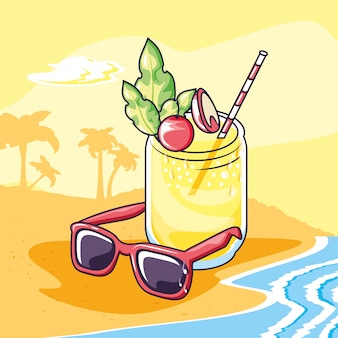 Summer and vacation icon set