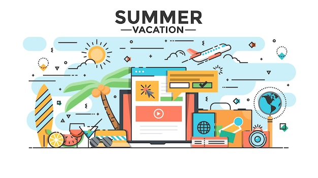 Summer vacation illustration
