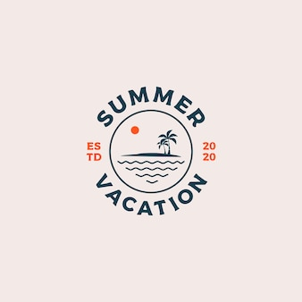 Summer vacation logo