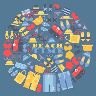 ビーチでの夏休み