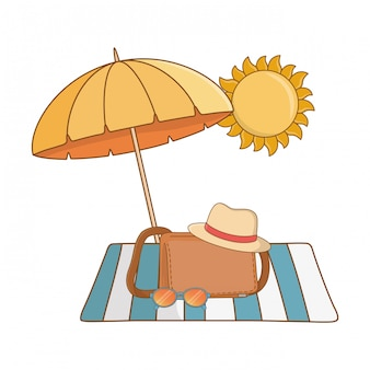 Summer vacation relax cartoon