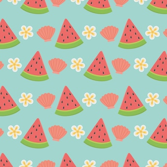 Summer and vacation seamless pattern wallpaper design