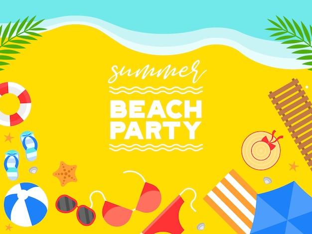 Летние каникулы, летний пляж иллюстрации