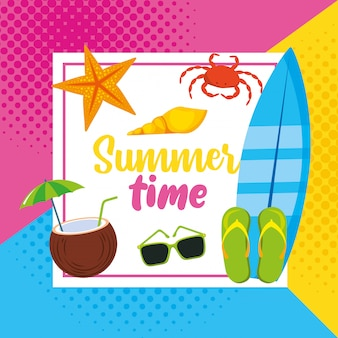 Summer and vacation time card