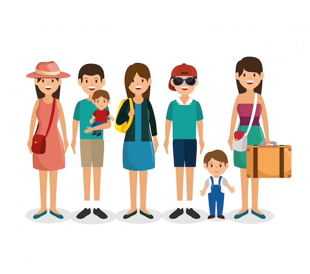 Summer vacations holiday illustration