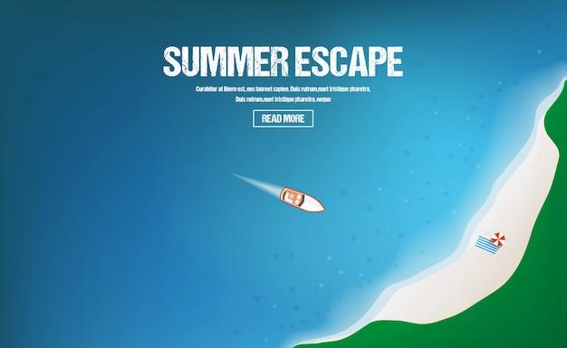여름 방학, 휴가 및 관광 개념