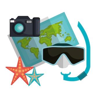 Summer vacations holidays icons