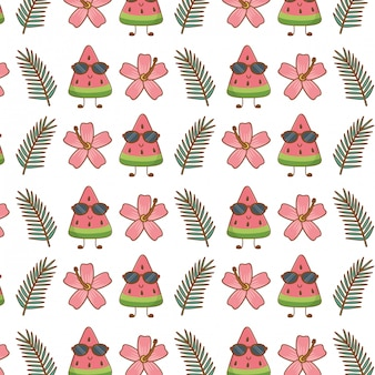 Summer and vacations seamless pattern