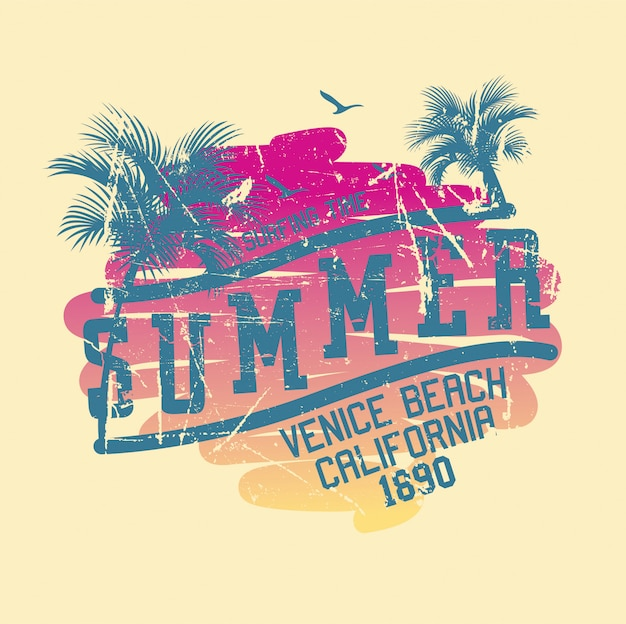 Summer venice beach america