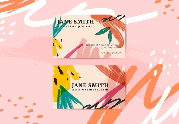 Summer vibe business card