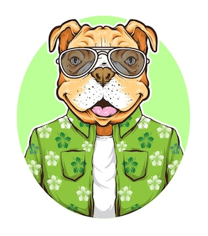 Summer vibe dog