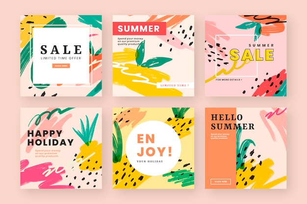 여름 분위기 웹 디자인