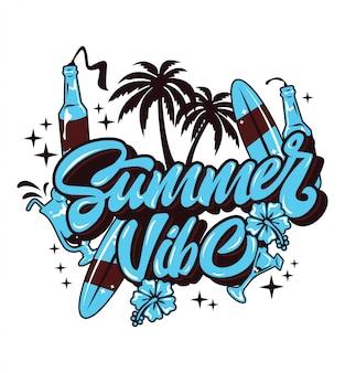 Summer vibeタイポグラフィ