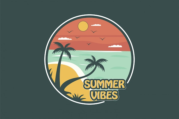 Summer vibes badge