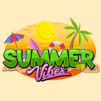 Summer vibes beach