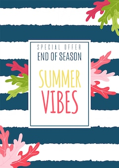 Summer vibes flat card as special seasonal offer.