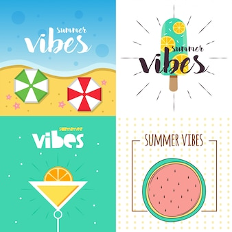 Summer vibes illustration design