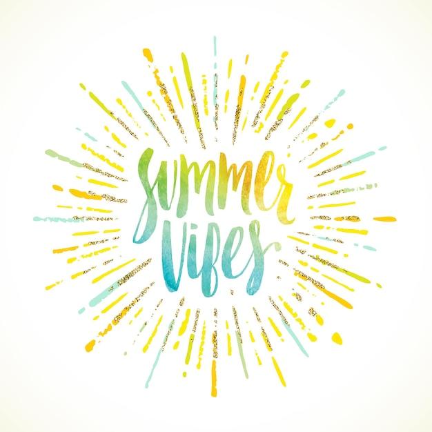 Summer vibes summer holidays greeting card