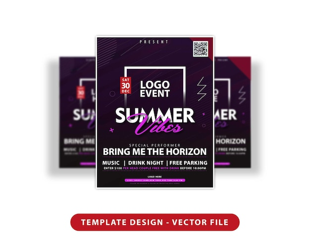 Summer vibes template design
