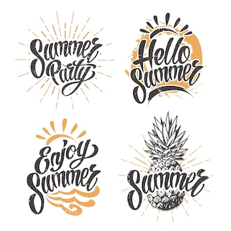 Летняя винтажная эмблема