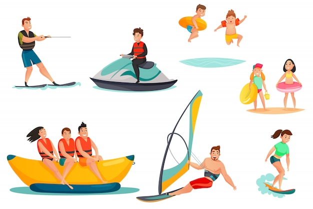 Summer water activities set