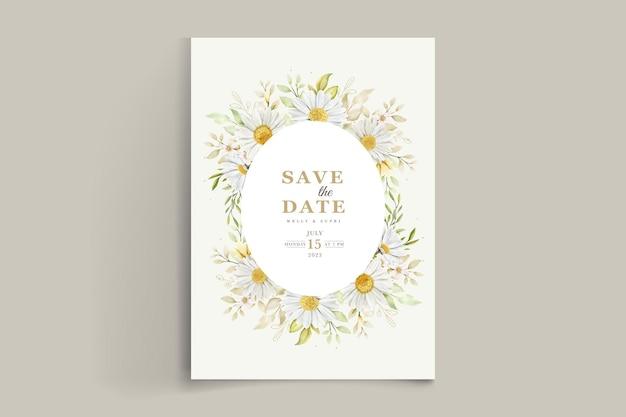 Летняя акварель хризантема цветочная открытка