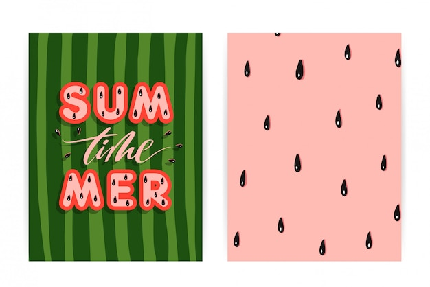 Summer watermelon background
