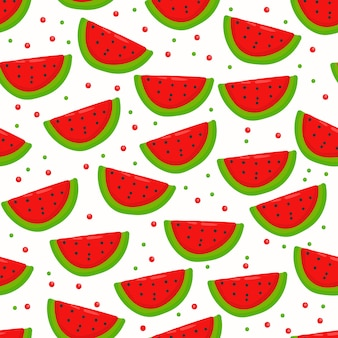 Summer watermelon seamless pattern doodle