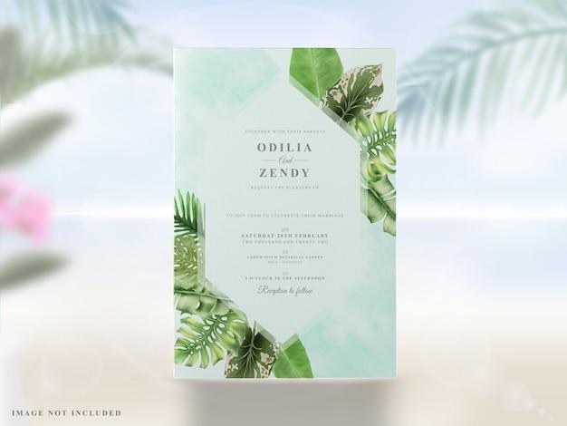 夏の結婚式の招待カードセット