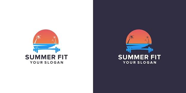 Лето с подходящим логотипом спортзала