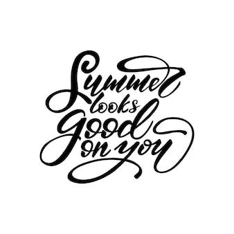 Векторная иллюстрация с надписью summer выглядит хорошо на вас.