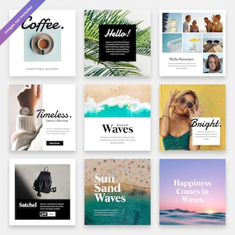 Summerbreeze social media instagram template