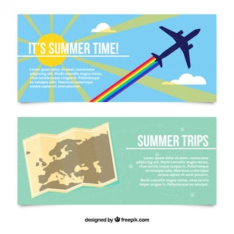 Summertime banners of trip