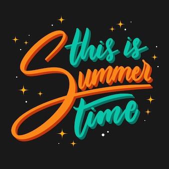 Summertime lettering design