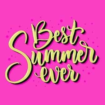 Summertime lettering style