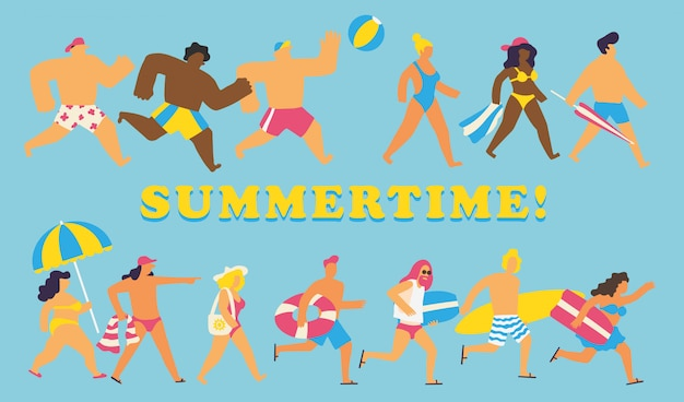 Summertime people set