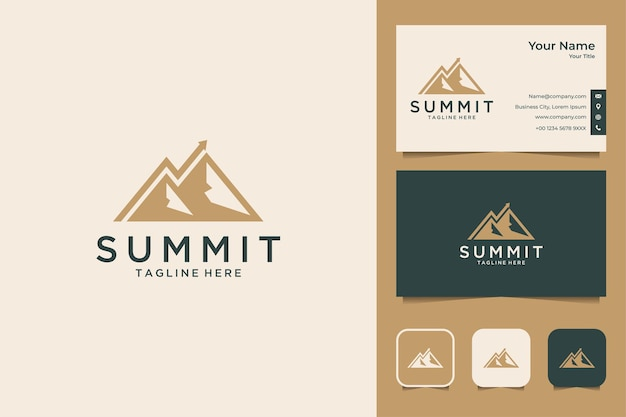 Summit investment logo design and business card