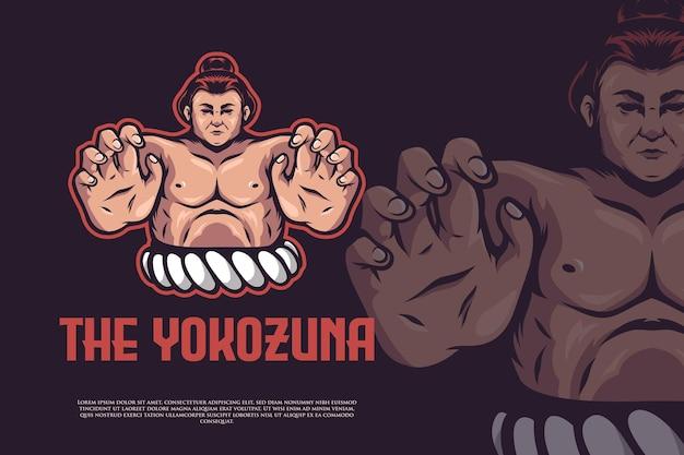 Sumo athlete logo design
