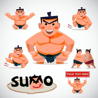 相撲文字セットイラスト