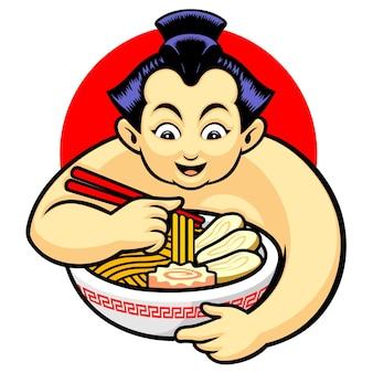 Sumo eat ramen