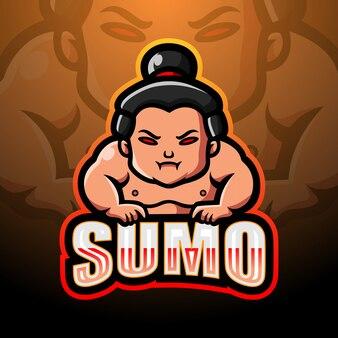 相撲マスコットeスポーツのロゴデザイン