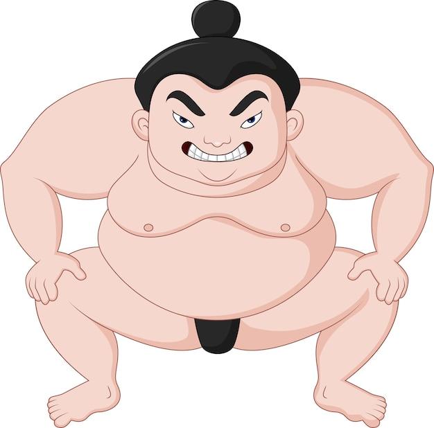 Sumo wrestler cartoon