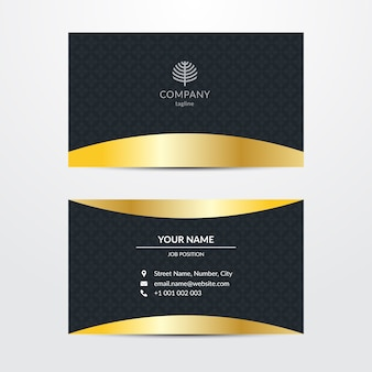 Sumptuous business card template